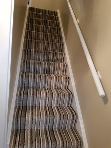 Strtiped carpet, Staircase