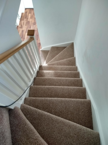 Staircase with Winders in a new build property